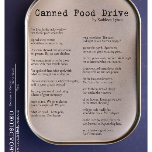 """Canned Food Drive"" - Poem by Kathleen Lynch, Art by Jim Benning - a Broadsided Press Collaboration"