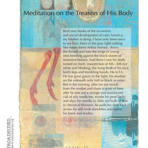 """Meditation on the Treason of His Body"" - Poem by Joe Willikins, Art by Alesia F. Norling - a Broadsided Press Collaboration"