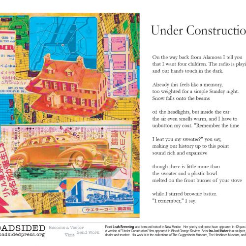 """Under Construction"" - Poem by Leah Browning, Art by Ira Joel Haber - a Broadsided Press Collaboration"