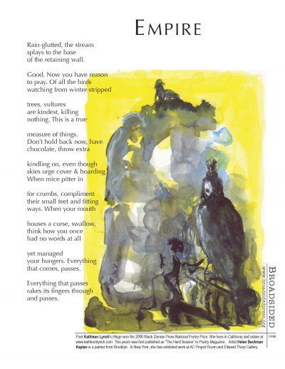 """Empire"" - Poem by Kathleen Lynch, Art by Helen Beckman Kaplan - a Broadsided Press Collaboration"