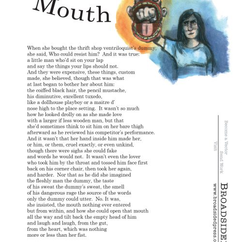 """""""Mouth"""" - Poem by Robert Wrigley, Art by Caleb Brown - a Broadsided Press Collaboration"""