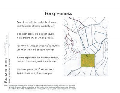 """Forgiveness"" - Poem by Richard Hoffman, Art by Kate Baird - a Broadsided Press Collaboration"