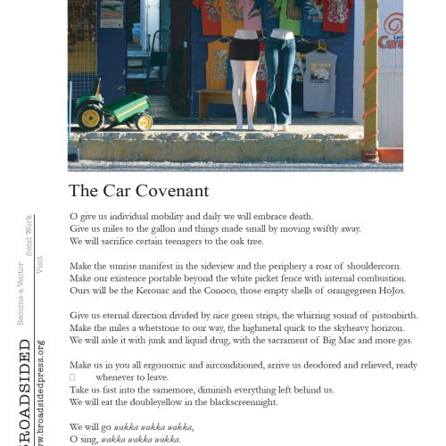 """The Car Covenant"" - Poem by Robert Strong, Art by Lisa Sette - a Broadsided Press Collaboration"
