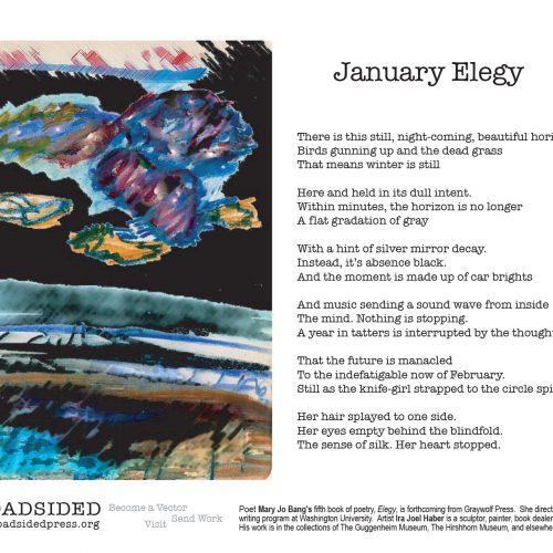 """January Elegy"" - Poem by Mary Jo Bang, Art by Ira Joel Haber - a Broadsided Press Collaboration"