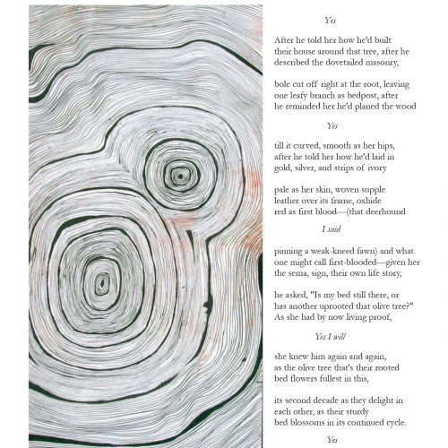 """Collective Origins (as) Ulysses: Uxoria"" - Poem by Pamela Johnson Parker, Art by Kevin Morrow - a Broadsided Press Collaboration"