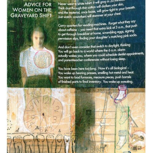 """Advice for Women on the Graveyard Shift"" - Poem by Karen J Weyant, Art by Alicia F Norling - a Broadsided Press Collaboration"