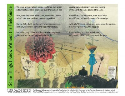 """Some Things I Know Without the Field Guide"" - Poem by Suzanne Hellman, Art by Gabriel Travis - a Broadsided Press Collaboration"