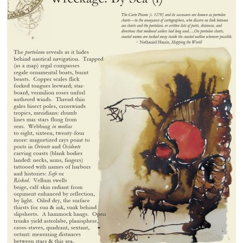 """Wreckage: By Sea (i)"" - Poem by Gretchen E Henderson, Art by Elizabeth Terhune - a Broadsided Press Collaboration"