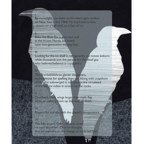 """One Lineage of Ice, Ravened"" - Poem by Jari Thymian, Art by Kate Baird - a Broadsided Press Collaboration"