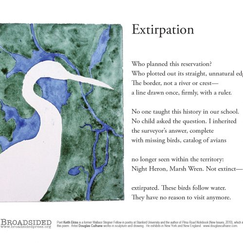 """Extirpation"" - Poem by Keith Ekiss, Art by Douglas Culhane - a Broadsided Press Collaboration"