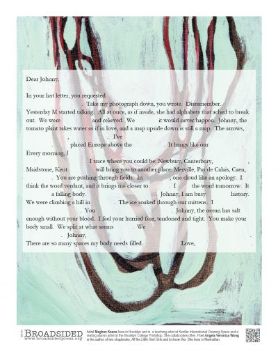 """Dear Johnny"" - Poem by Angela Veronica Wong, Art by Meghan Keane - a Broadsided Press Collaboration"