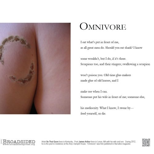"""Omnivore"" - Poem by James Arthur, Art by Se Thut Quon - a Broadsided Press Collaboration"