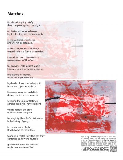 """Matches"" - Poem by George David Clark, Art by Meghan Keane - a Broadsided Press Collaboration"