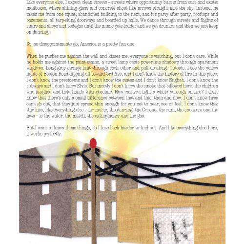"""Dhanaivi at 16 in the South Bronx"" - Prose by Dolan Morgan, Art by Sarah Van Sanden - a Broadsided Press Collaboration"