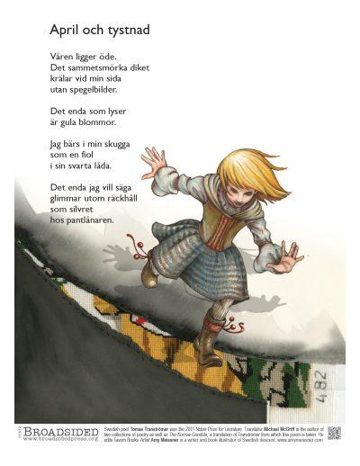 """April och tystnad"" - Poem by Tomas Tranströmer, Art by Amy Meissner - a Broadsided Press Collaboration"
