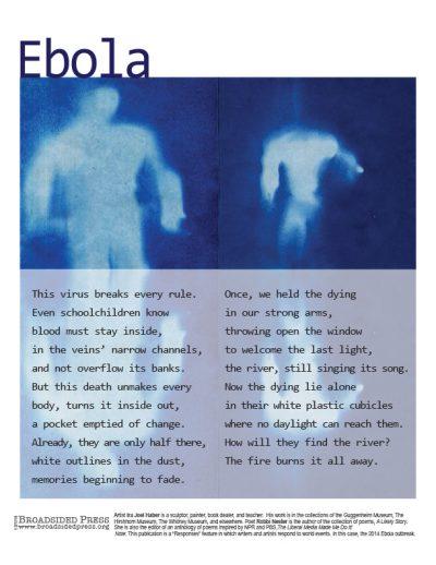 """Ebola"" - Poem by Robbi Nester, Art by Ira Joel Haber - a Broadsided Press Collaboration"