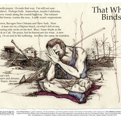 """That Which Binds Us"" - Poem by Matthew Caretti, Art by Cheryl Gross - a Broadsided Press Collaboration"