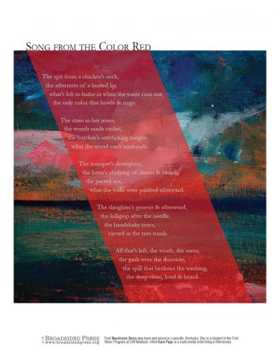 Broadside: Song from the Color Red