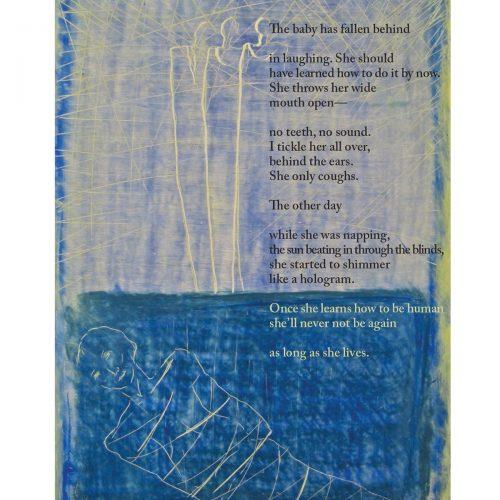 "Broadside ""Once Was"" by poet Adina Schoem and artist Åse Margrethe Hansen"
