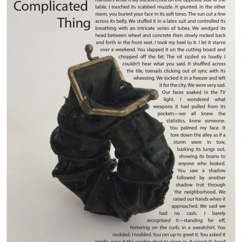 """Broadside """"The Complicated Things"""" by poet Brian Clifton and artist Janice Redman"""